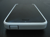 """Cariband case for iPhone 5/5s, """"holds stuff"""" 3d printed White Strong & Flexible POLISHED, Front and Top, power button"""