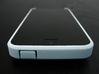 """Cariband case for iPhone 5/5s, """"holds stuff"""" 3d printed White Strong & Flexible, Front and Top, power button"""