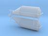 Grain Bin, Offset Funnel (HO 1:87) 3d printed