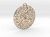 Circular Labyrinth Pendant 3d printed