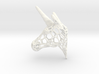 Unicorn Trophy Voronoi (100mm) 3d printed
