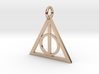 Deathly Hallows Triangle Pendant 3d printed