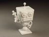 Cafe 51 - Sci-Fi Robot with Simple Base 3d printed White Strong & Flexible material.