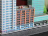New York Set 1 Apartment Building with Shops 3 x 2 3d printed