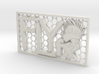 FLYfx Logo in Honeycomb Frame w/Glow 3d printed