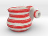 Naive Pitcher Pendant with beads - Red Stripes 3d printed