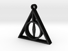 Deathly Hallows Pendant - Small - 5/8  3d printed