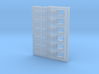 144-H0040: Jet Blast Deflector (6 panels), 1:144 3d printed