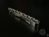 Gyroid Tie Bar 3d printed Back (Customized) [Polished Silver]