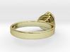 Gold Mine ring - UK O (inside diameter 17.53mm) 3d printed