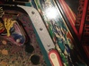 Firepower and Flash Right Outlane guide 3d printed The Outlane guide installed in my Firepower pinball