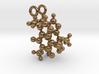 Caffeine 3D molecule for earrings 3d printed