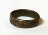 Flat Braid Ring size 12 3d printed Has a wonderful texture that almost looks like cloth.