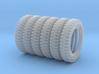 1-24 SIX UNITS Tire 600x16 3d printed
