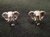 Elephant Cufflinks 3d printed