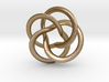 Toroid pendant four leaf 3d printed
