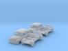 SET 2x Fiat 600 (TT 1:120) 3d printed