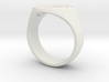Enneagram Ring - Thick Band - Size 11 3d printed