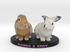 Custom Rabbit Figurine - Eddy Rambo 3d printed