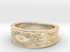 Sunflower Ring Size 7 3d printed 14k Gold