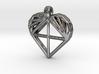 Voronoi Heart Pendant 3d printed