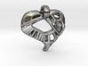 Voronoi Stylized Heart Pendant 3d printed