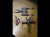 A-Wing 1/72 scale 3d printed w/ finemolds y-wing & x-wing