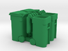 Trash Cart (4) Mixed 'O' 48:1 Scale 3d printed
