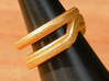 Balem's Ring1 - US-Size 8 1/2 (18.53 mm) 3d printed Ring 1 in polished gold steel (shown: size 6 1/2)
