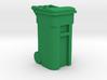 Trash Cart Closed- 'O' 48:1 Scale 3d printed