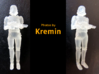 Stormtrooper in position of Attention 3d printed Many thanks to Kremin