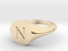 Letter N - Signet Ring Size 6 3d printed