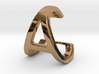 AC CA - Two way letter pendant 3d printed