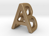 AB BA - Two way letter pendant 3d printed