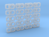 Dual Headlight - Twin Sealed Beam (HO - 1:87) 20X 3d printed