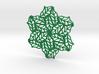 Drink Coaster- Tileable - Leaf Pattern 3d printed