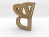 Two way letter pendant - BY YB 3d printed