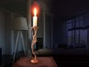 Striding man - 3D printed  candleholder 3d printed striding man- 3D printed candleholder- steel
