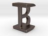 Two way letter pendant - BI IB 3d printed