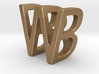 Two way letter pendant - BW WB 3d printed
