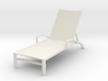 Miniature 1:24 Provence Chaise (Not Full Size) 3d printed