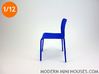 First Modern Dining Chair 1:12 scale 3d printed