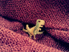 8-Bit T-rex Ring 3d printed Printed in Raw Brass