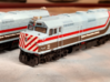 RTA/Metra F40PH Plow (N -1:160) 5X 3d printed Frosted Extreme Detail