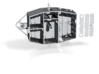 1/96 Fletcher (Bethlehem Steel-type) Pilot House 3d printed