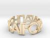 Kairos Agape RingfingerBor Ring Size 9.75 3d printed