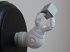 Robot arm- customizable pose 3d printed assembled arm, holding Tungsten cube