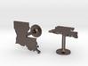 Louisiana State Cufflinks 3d printed