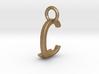 Two way letter pendant - CJ JC 3d printed