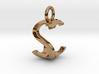 Two way letter pendant - CS SC 3d printed